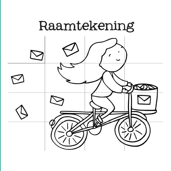 raamtekening fiets-14